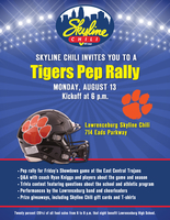Skyline Chili Tigers Pep Rally August 13, 2018