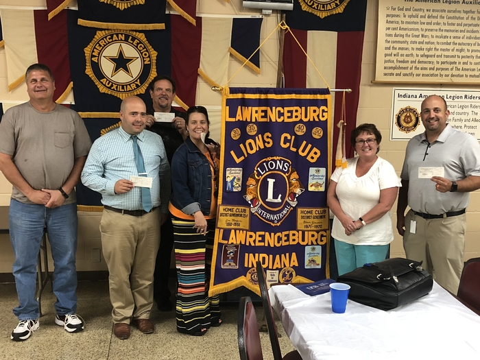 Lawrenceburg Lions Club donating to each Lawrenceburg School