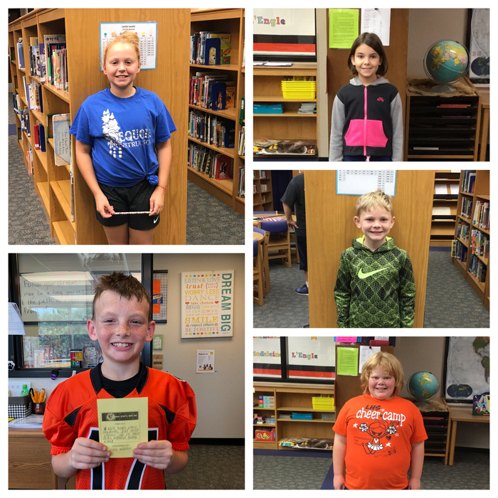 Kindness winners for this week.