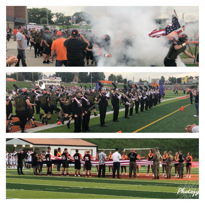 First home football game at The Burg. #LawrenceburgLegacy