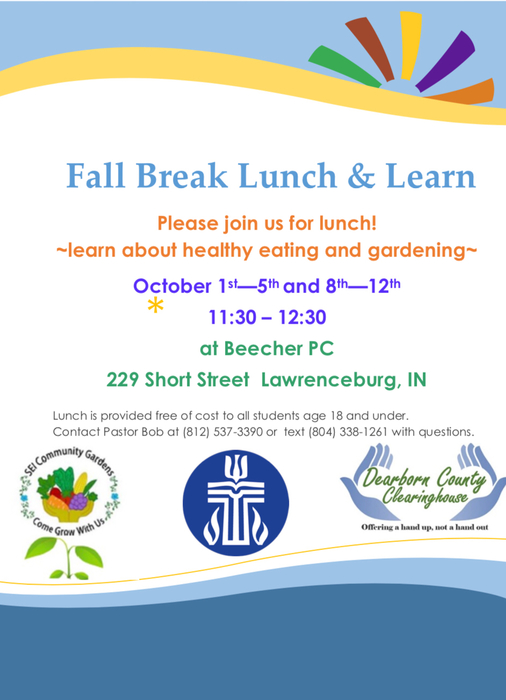 Fall Break FREE Lunch Opportunity