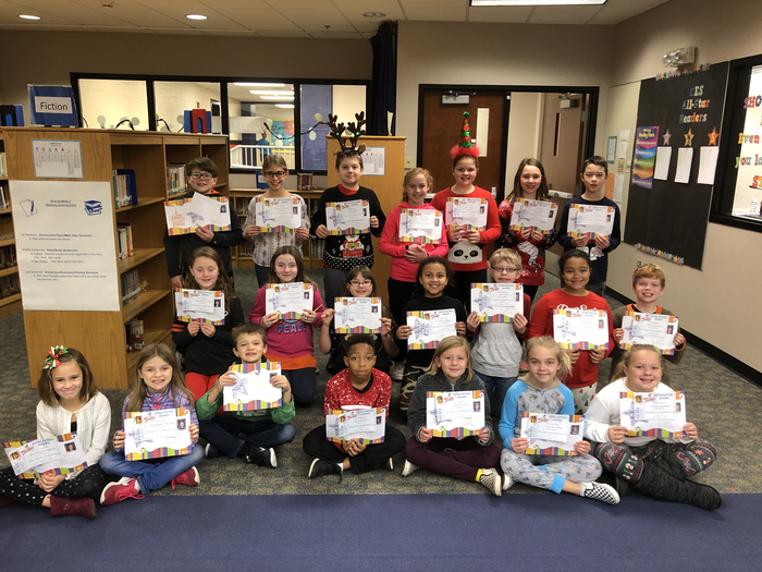 December Students of the Month.