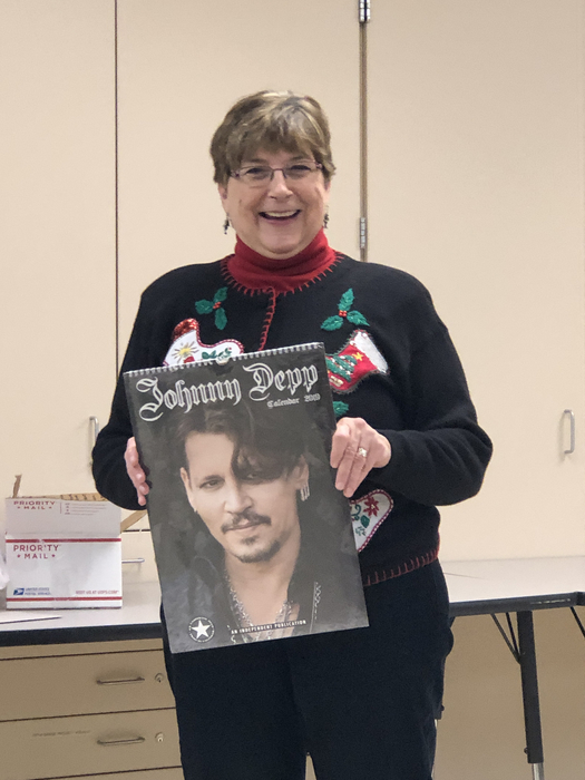 Johnny Depp calendar for Kay.