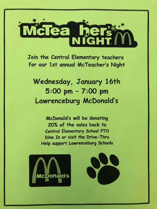 Wednesday flyer at McDonald's
