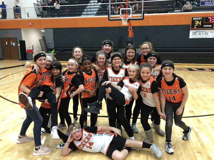 Orange and Black 5th grade Lady Tigers
