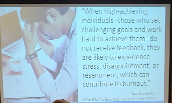 feedback to avoid burnout