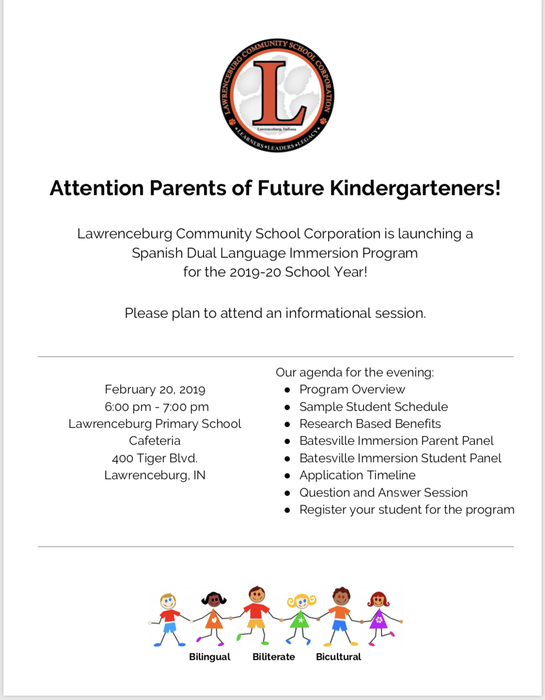Dual Language Immersion Parent Meeting