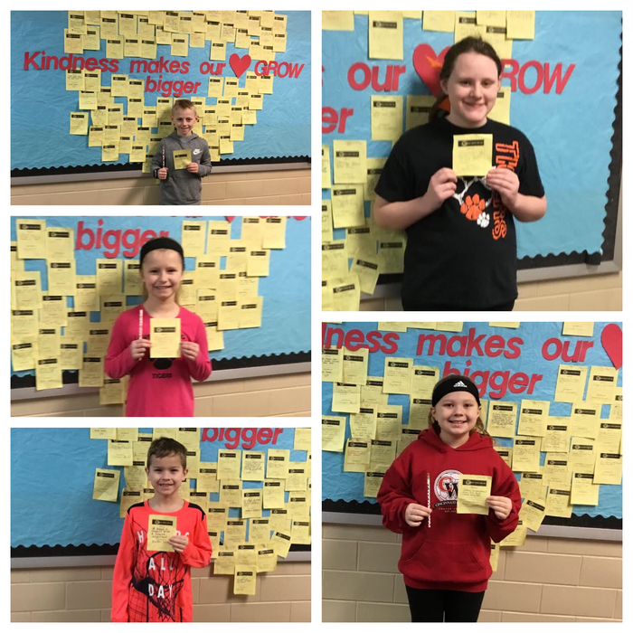 Kindness Winners for the week!