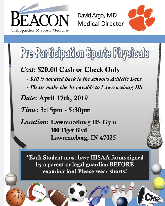 Physicals at LHS Flyer