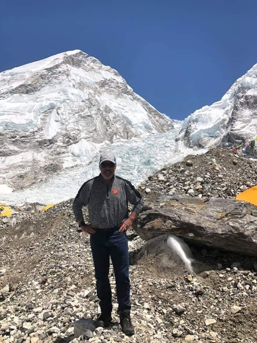 Matt at Base Camp on Mt Everest