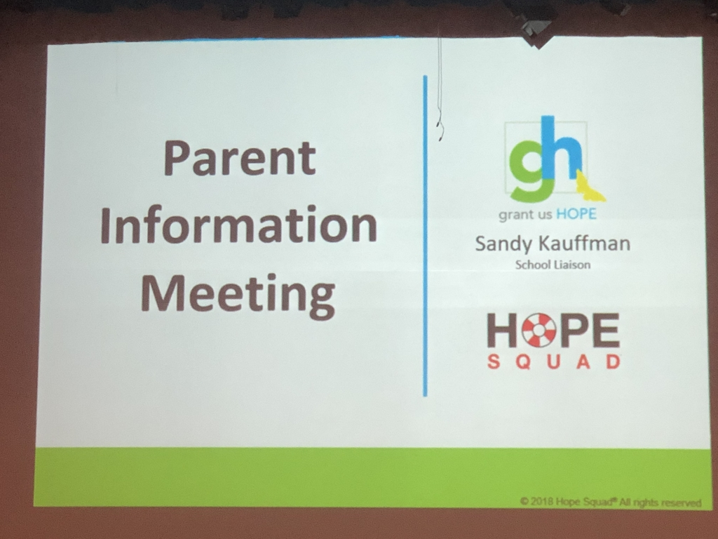 Hope Squad Parent/Student Informational Meeting