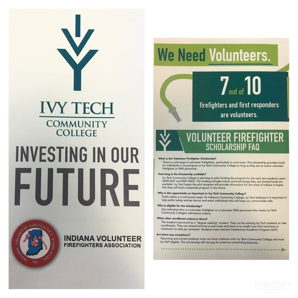 Ivy Tech Volunteer Firefighter Scholarship