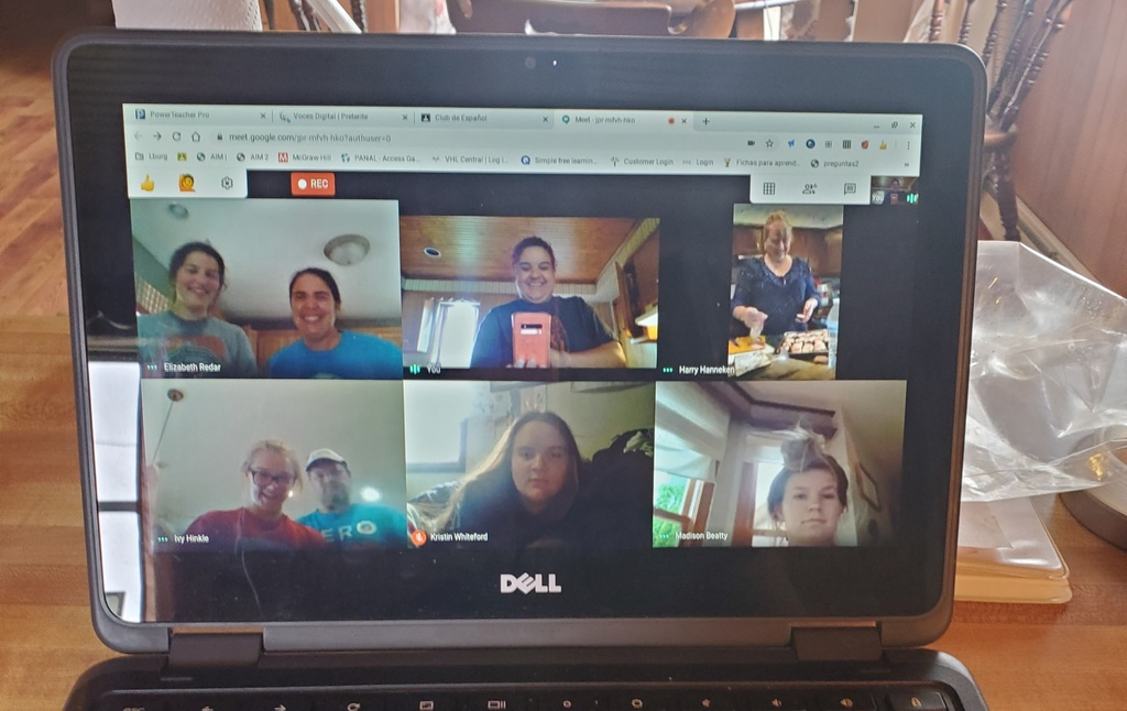 Learning and eating through virtual meetings